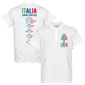 Italië Champions Of Europe 2021 Road to Victory Polo Shirt - Wit - S