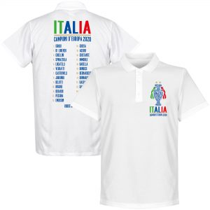 Italië Champions Of Europe 2021 Selectie Polo Shirt - Wit - L